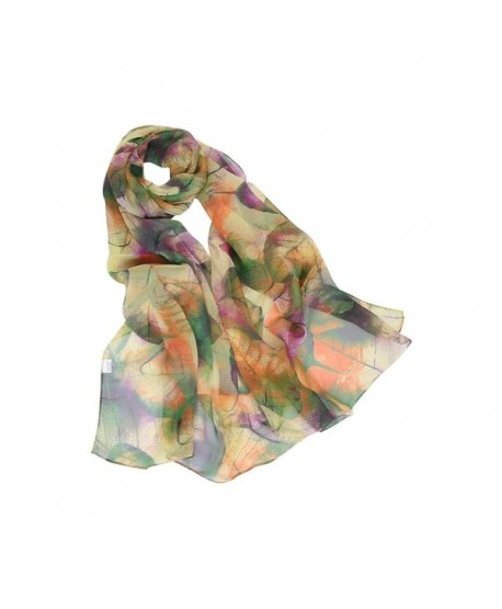 MELODY STORY Unique Print Silk Feeling Scarf For Women 63x20 Inches - Grass Green - CJ188AX0EAA