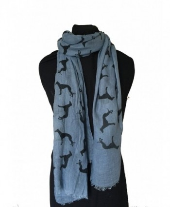 Pamper Yourself Now Women's Big Greyhound Scarf - Sky Blue - CM12I7A5E8D