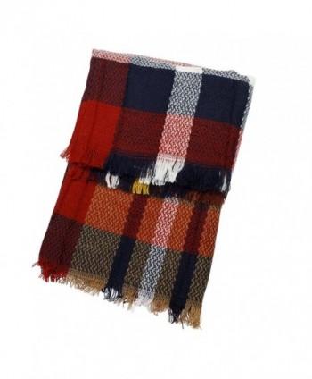 f4d4d8e647f All American Plaid Tartan Infinity Scarf Warm Cozy Scarves - CO1874W8756