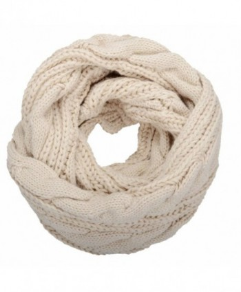 NEOSAN Womens Thick Ribbed Knit Winter Infinity Circle Loop Scarf - Twist Khaki - C2127NEJP8Z