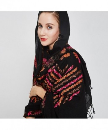 DANA XU Embroidery Pashmina Shawls in Fashion Scarves