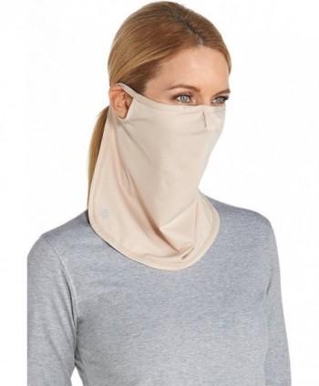 Coolibar UPF 50+ Unisex UV Face Mask - Sun Protective - Beige - CG12G3I7O49