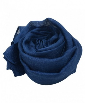 Bbonlinedress Women's Lightweight Rayon Shawl Long Soft Scarf Bridal Party Wrap - Navy - CR182Y4ZYNG