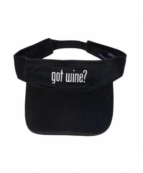 Got Wine? Black Visor - CU11EVLDTXV