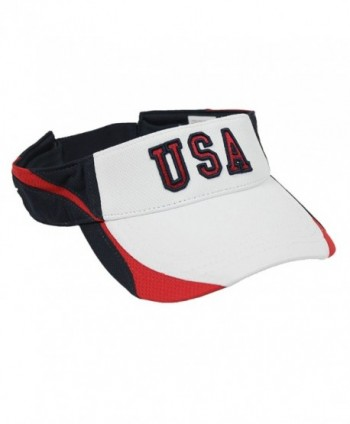 Patriotic White USA Visor - CB11CGEMICX