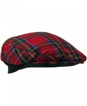 Authentic Royal Stewart Tartan Golf Cap - Made In Scotland - C011IWEFZVH