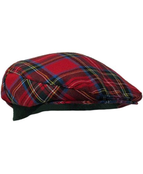 Authentic Royal Stewart Tartan Golf Cap - Made In Scotland - C011IWEFZVH