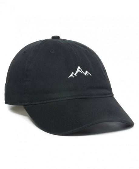 Outdoor Cap Mountain Dad Hat - Unstructured Soft Cotton Cap - Black -  C5188LGO8TZ 34a52ff48d7