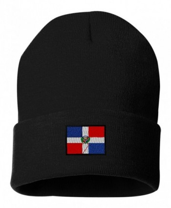 Dominican Republic Custom Personalized Embroidery Embroidered Beanie - Black - CI12N6E5M2E