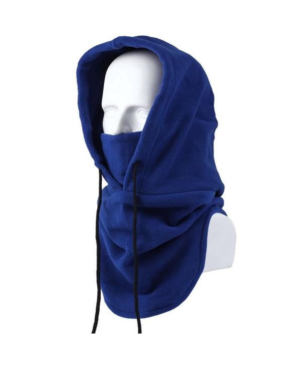 AStorePlus Ski Windproof Hat- Winter Warm Fleece Balaclava Hooded Face Mask Neck Warmer Snowboard Mask - Blue - C412O3AZ5KE