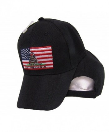 USA Gadsden Don't Tread On Me American Patch Black Embroidered Cap Hat - C8185XD4AMD