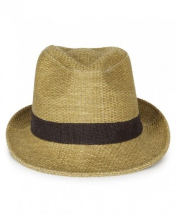 ililily Two Tone Structured Trilby Classic