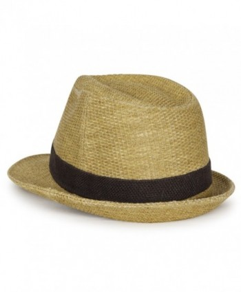 ililily Two Tone Structured Trilby Classic in Men's Fedoras