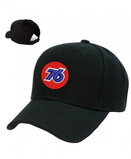 *76* Gas Station Black Embroidery Adjustable Baseball cap Souvenier Gift Unique Hat - CM127AIC571