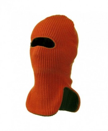 Reversible Double Layer Knit Ski Mask - Orange W11S09B - CA11C0N6CAD
