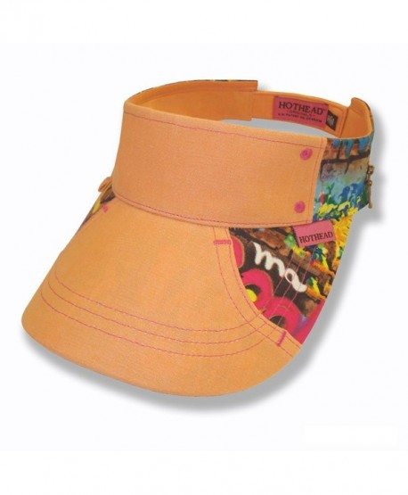 Hothead Wide Brim Sun Visor Hat in Graffiti with Melon Denim - CL11LY2HWCT