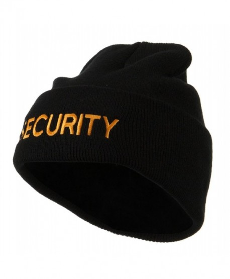 Military Embroidered Beanie - Security W17S10F - CV11E8U9C3V