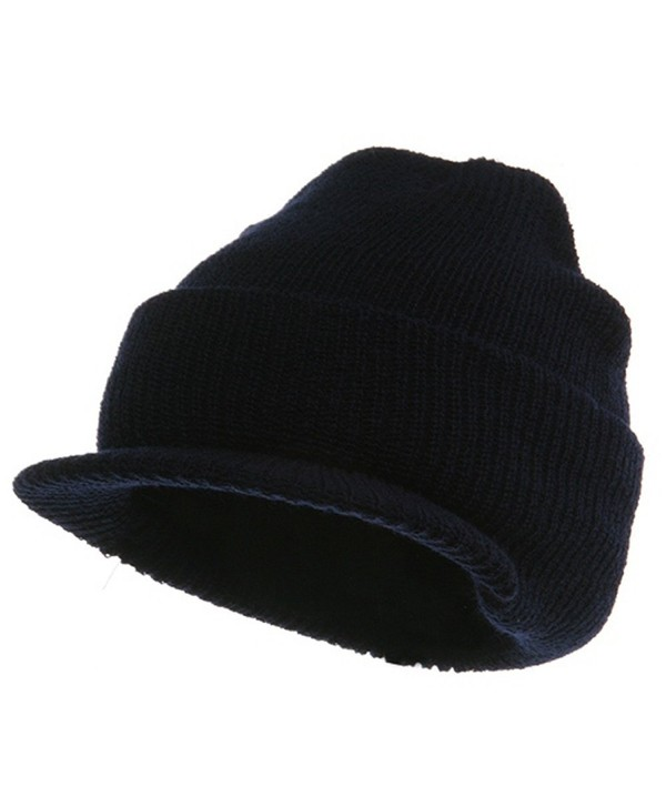 Military Wool Jeep Cap - Navy - CU114F2WWAV