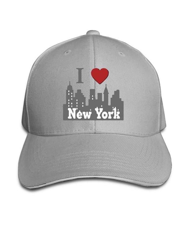 I Love New York NY Skyline Unisex Breathable Slouchy Beanie - Ash - CA17YIO5L26