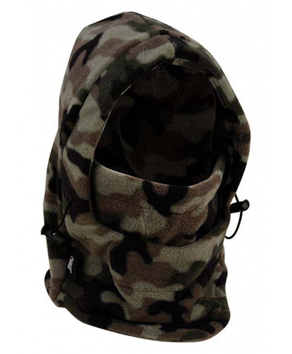Full 90 Eforstore 6 In 1 Thermal Fleece Balaclava Hat Hood Police SWAT Ski Bike Wind Stopper Mask - Camouflage - CQ12NZ7JJD9