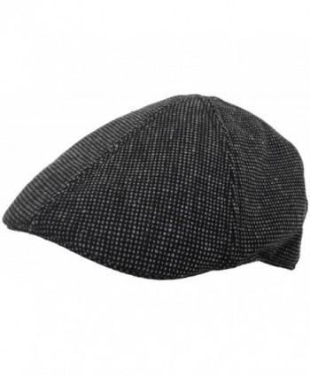 Brooklyn Hat Co Duckbill Ivy Cap 6 Panel Wool Blend Driver Pub Hat - Black - CL1278LTN2L