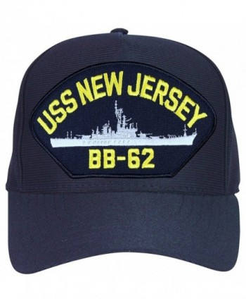 USS New Jersey BB-62 Baseball Cap. Navy Blue. Made in USA - CW12O4QY9MC