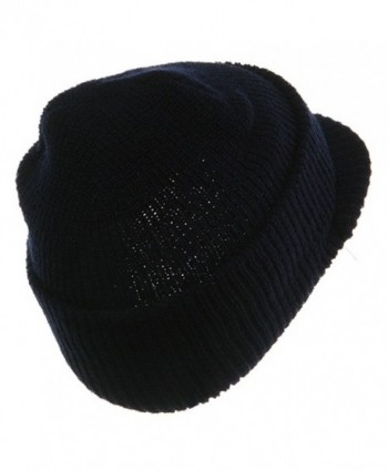 Military Wool Jeep Cap Navy in Men's Skullies & Beanies