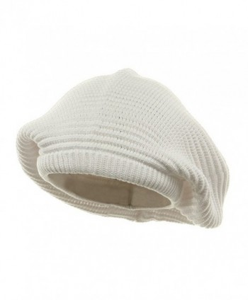 Medium Crown New Rasta Beanie Hat - White OSFM - CW112KUH0AR
