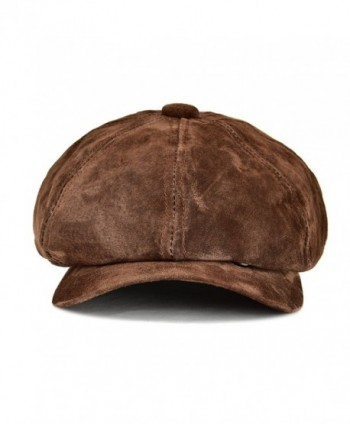 VOBOOM Leather newsboy Pannel Classtic in Men's Newsboy Caps