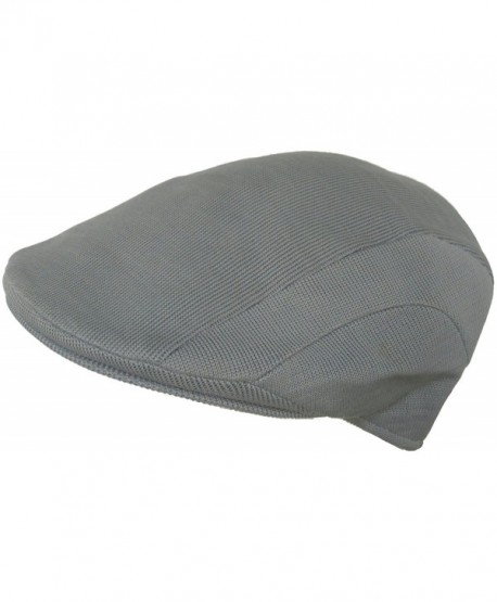 Cappello Poly Mesh Ivy Cool Summer Jaguar Scally Driving Cap - Gray - CB11958WY09