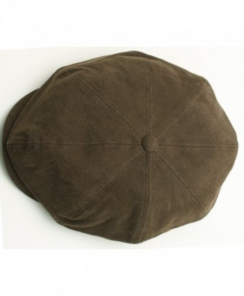 Newsboy Washed Cotton Canvas Gatsby in Men's Newsboy Caps