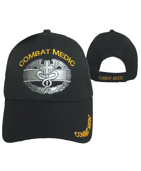 Combat Medic Cap Black U.S. Army Embroidered Military Hat - CO12ODQFY09