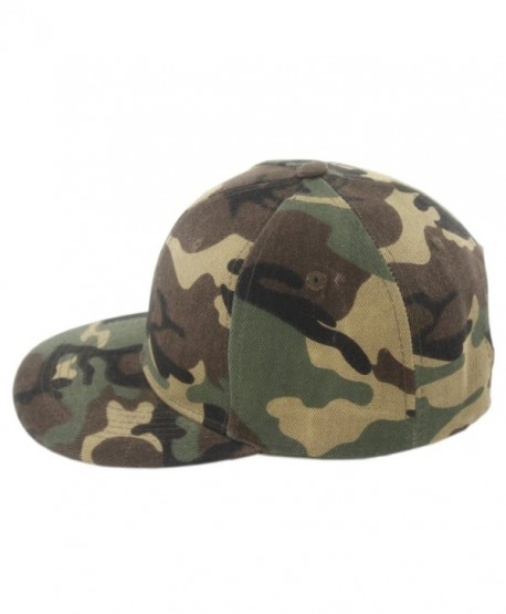 Duolaimi Plain Snapback Cap for Unisex Adult - Camouflage - C012G9CVCAF
