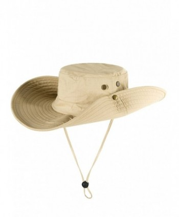 Choies Unisex Outdoor Waterproof Boonie Hat Sun Protection Wide Brim Breathable Fishing Sun Hat - Beige - CQ1804NS0ZY