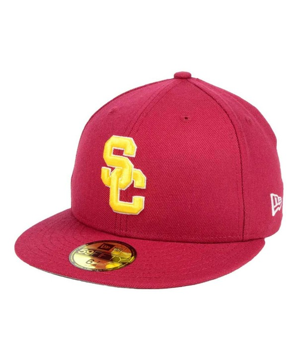 New Era 59Fifty Men's Hat Trojans USC College Cardinal Red 2016 Classic Fitted Cap - CT12O4Z679U