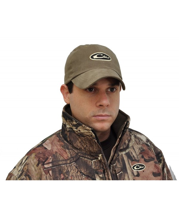 Drake Waterfowl Oval Logo Six Panel Adjustable Formed Hat - Loden - C711690CHMV