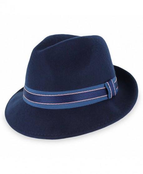 Hats in the Belfry Belfry Lucas - Crushable Wool Felt Fedora Hat - C612NTK3XJG