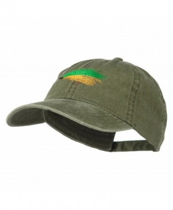 Fishing Green Fly Embroidered Washed