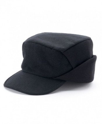 Croft & Barrow Men Solid Wool Blend Driver Cap Black - CL12N5LIHTU