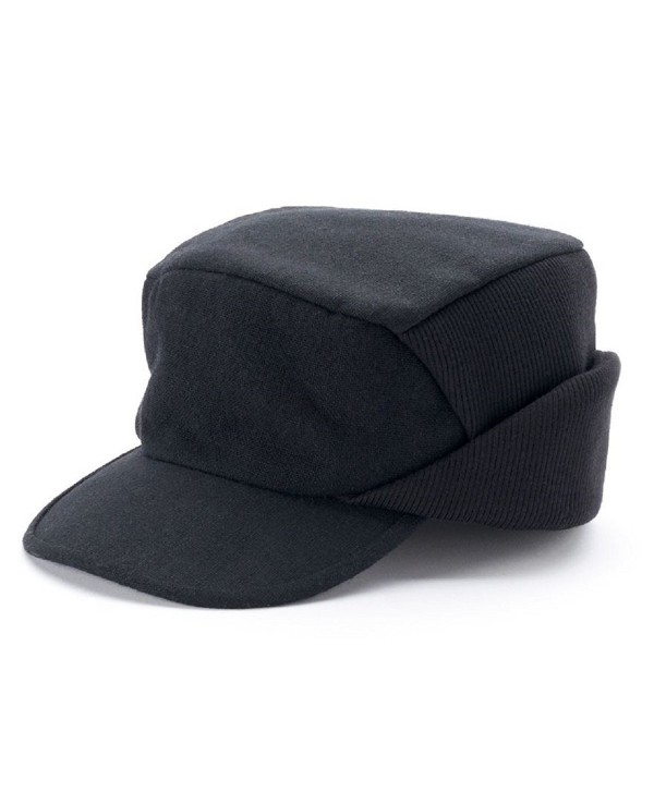 Croft & Barrow Men Solid Wool Blend Driver Cap Black - CL12N5LIHTU