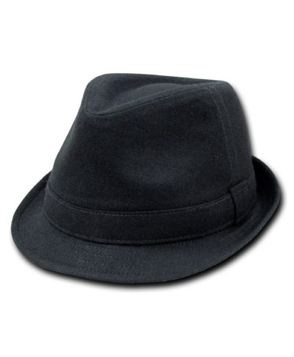 DECKY Melton Fedora Hat (BLACK- L / XL) - C01154YFHNJ