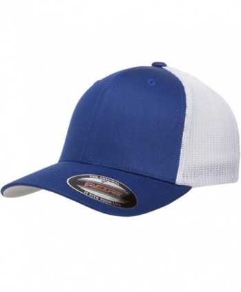 6511 Flexfit Trucker Mesh Cap w/ THP No Sweat Headliner Bundle Pack - Royal/White - CK185HH8N07