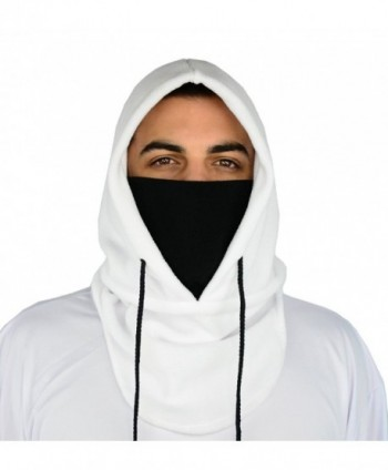 Balaclava Mask - Snowboarding Face Masks - Cold Weather Gear - By Mato & Hash - White/Black - CB11Q0NO32J