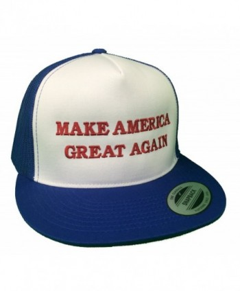 Make America Great Again Donald Trump Hat - Red- White & Blue - C612EM34BH5