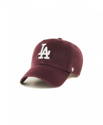 47 Brand MLB Los Angeles Dodgers Clean Up Cap - Dark Maroon - CR17X65A05S