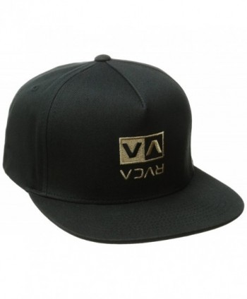 RVCA Men's Upside Snapback Hat - Black - CS12FHMGILH