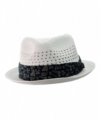 NYFASHION101 Paisley Vented Unisex Fedora in Men's Fedoras