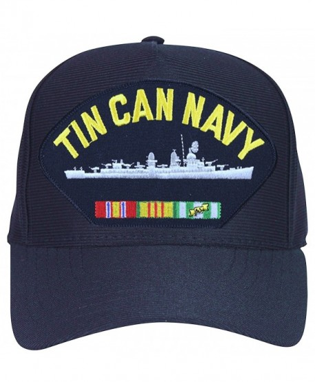 Armed Forces Depot Tin Can Navy With Destroyer and Ribbons Baseball Cap. Navy Blue. Made In USA - CA12O6FN6NJ