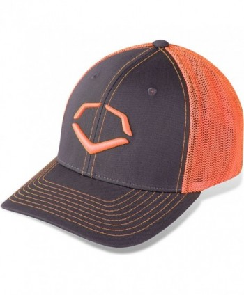 Evoshield Trucker Flex Fit I Hat Neon Orange/Grey 243008.650 - Charcoal/Orange - CC11JP9OWCB