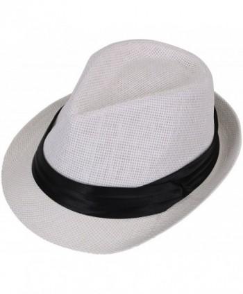 Men / Women's Classy Vintage Fedora Hat - White - CW184X0IYAC